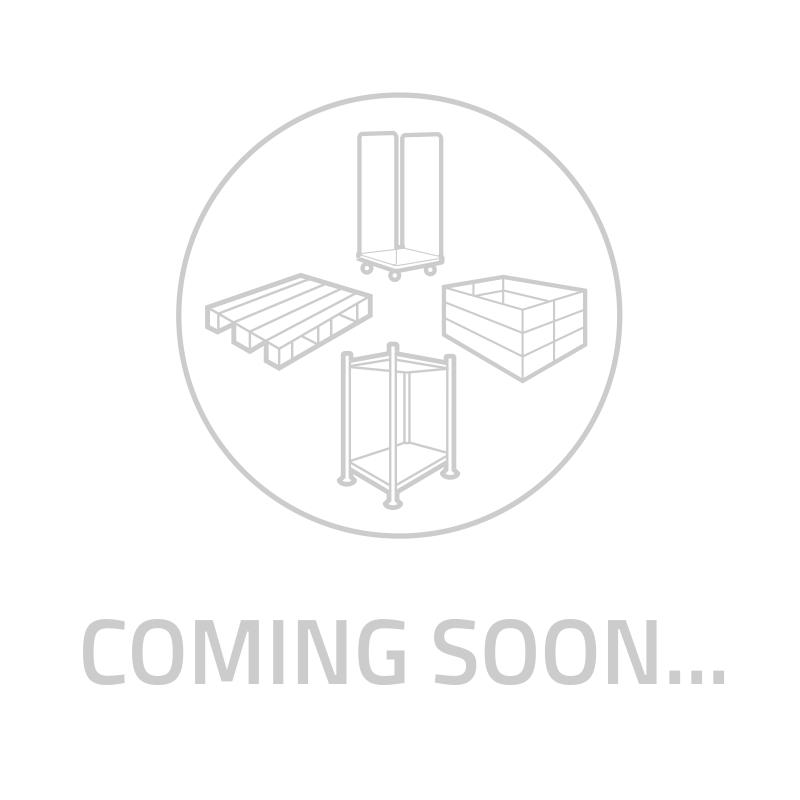Kunststof export pallet, 3 sledes, 1200x800x152mm - opstaande rand