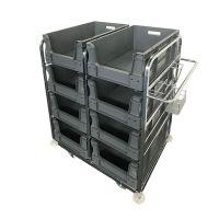 Orderverzamelwagen 1085x700x1170mm - inclusief 8 Euronorm grijpbakken