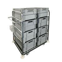Orderverzamelwagen 1085x700x1170mm - inclusief 8 draaistapelbakken