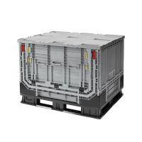 Palletbox inklapbaar met klapraam 1211x1011x903 mm - kunststof