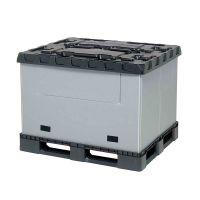 Inklapbare kunststof palletbox 1227x1027x965mm - klapdeur