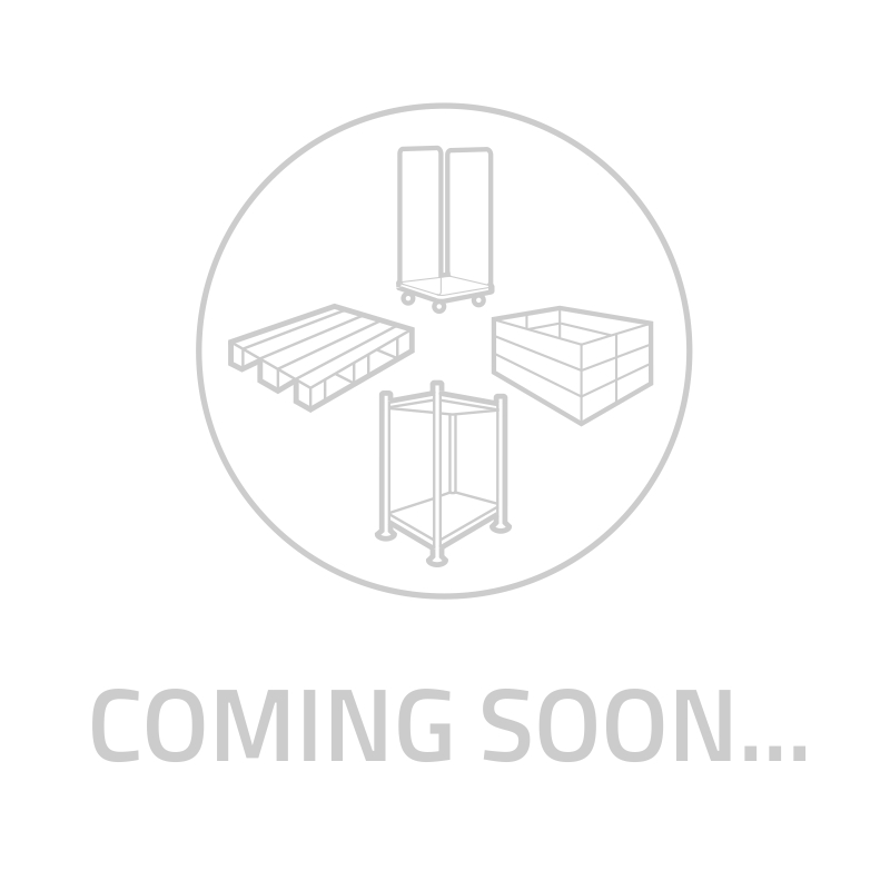 Euronorm stapelbak 600x400x80mm - gesloten