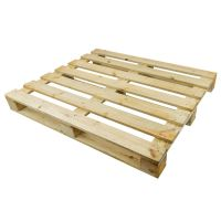 Eenmalige lichte houten pallet 1200x1000x120mm