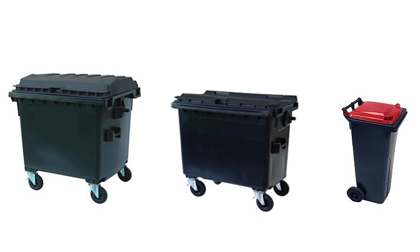 Afvalcontainers - hulpmiddelen voor recyclen