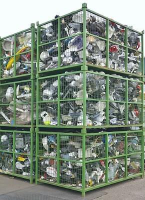 Gebruik geschikte logistieke verpakkingen in het elektro-recyclingproces