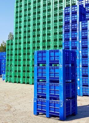 Kunststof industrieboxen - transport en opslag