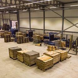 Nieuwe palletsorteerlijn in gebruik bij Rotom Maasbracht
